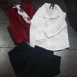 Nautica 12 mos infant pant suit button shirt 4 pc
